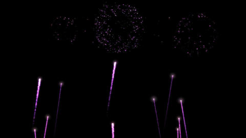 Colorful Fireworks Animation