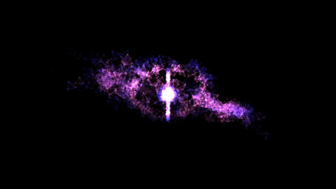 Abstract Rotating Rings - Loop Purple Animation