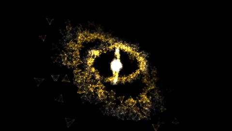 Abstract Rotating Rings - Loop Yellow Animation