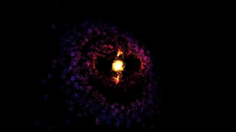 Abstract Rotating Rings - Loop Orange/Purple Animation