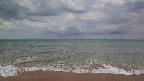 dramatic sea landscape with moody sky Footage