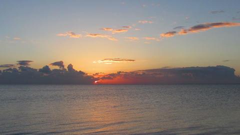 beauty landscape with sunrise over sea - timelapse Footage