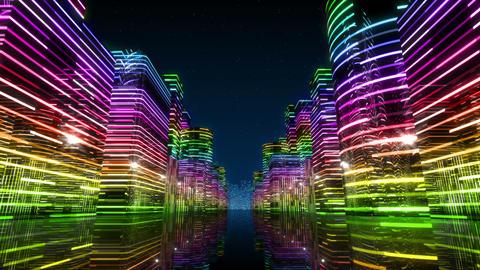 Neon Light City Z 1 Ab 3 HD Animation