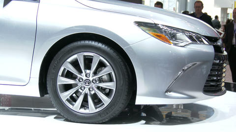 New Toyota Camry At The New York International Aut stock footage