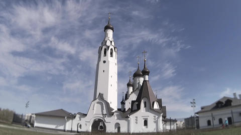 Russian Majestic Temple Time Lapse stock footage