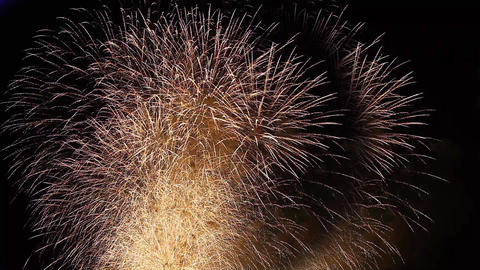 many fireballs Firework Footage