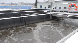 Sewage Treatment Plant, Waste Water Treatment 54 stock footage