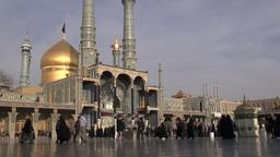 Golden domed shrine in Qom, Iran Footage