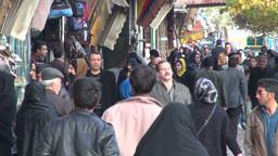 Busy Tabriz bazaar, Iran Footage