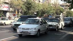 Busy street traffic in Tehran, Iran Footage