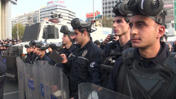 Riot police in Ankara, Turkey Footage