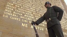 Ankara, Turkey, soldier stands guard at Atatürk M Footage