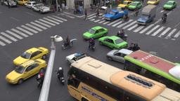 Busy crossing in Tehran, Iran Footage