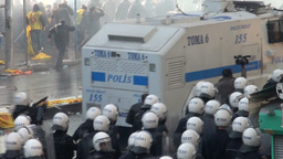 Tear gas is deployed during Ankara protest, Turkey Footage