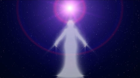 Star Being Appearing In UFO Light HD stock footage