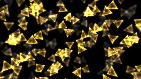Rotating Pyramids - Loop Golden Animation