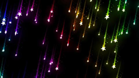 Falling Stars - Loop Rainbow Animation