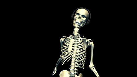 Dancing Skeleton with earphones Animation
