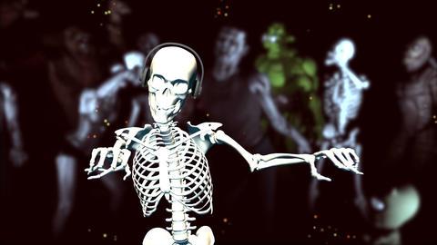 Dancing Skeleton (with monsters; strobe light effe Animation