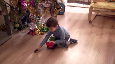 Andrew with toy car 03 Footage