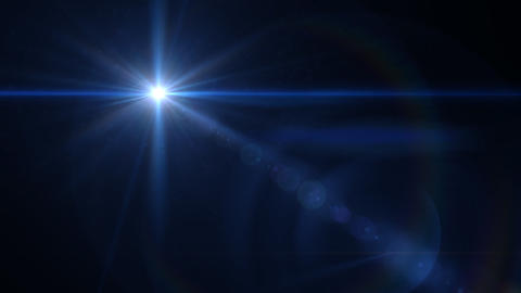 Glow Star cross lens flare Animation