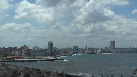 Skyline Of Havana And Malecon In Havana,cuba stock footage
