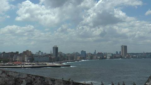 skyline of havana and malecon in havana,cuba Footage