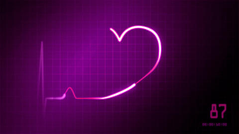 Heartbeat Of Ekg Monitor For Medical Theme 0