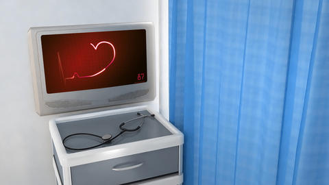 Red Heart EKG Monitor Love In Screen 1