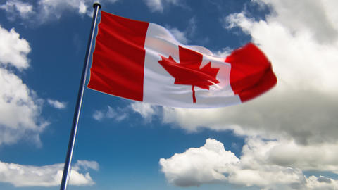 Canada Flag, HQ animated on an epic background Animation