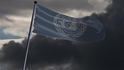 UN Flag, HQ animated Animation