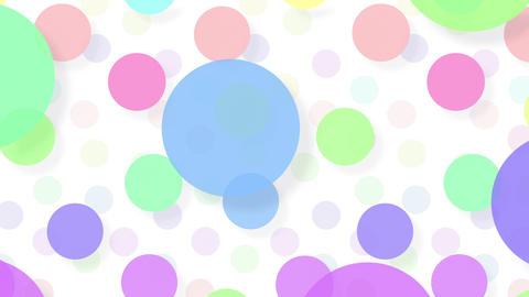 Simple background Circle L color 4k Animation