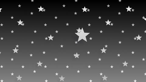 Simple background Star S BW 4k Animation