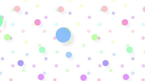 Simple background Circle S color 4k Animation