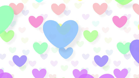 Simple background Heart L color 4k Animation
