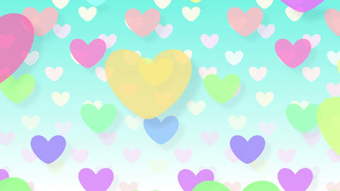Simple background Heart L 2 color 4k Animation