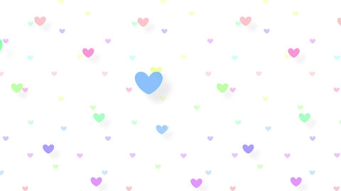 Simple background Heart S color 4k Animation
