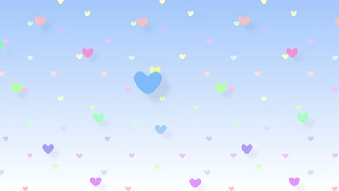 Simple background Heart S 2 color 4k Animation