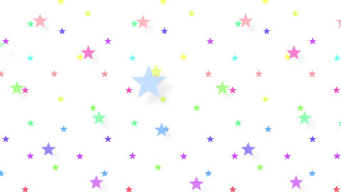 Simple background Star S color 4k Animation