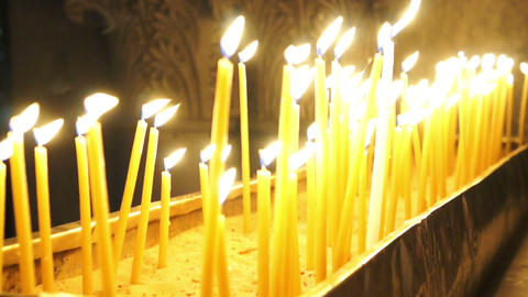 Candles in Holy Sepulchre Footage