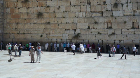 Wailing Wall in Jerusalem Footage