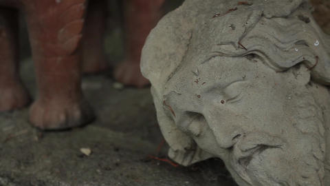 Stonehead Of A God stock footage