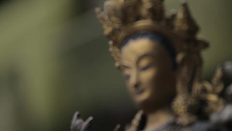 Statue Of An Asian Goddess Stock Filmmaterial