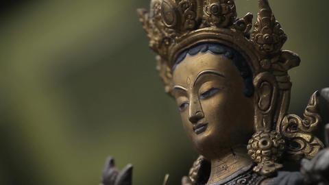 Statue Of An Asian Goddess lizenzfreie Videos