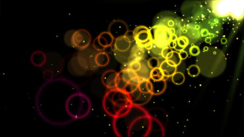 Abstract Colorful Circles - Loop Yellow Animation