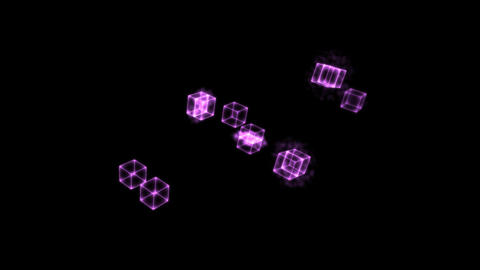 Purple Cloning Cubes Animation
