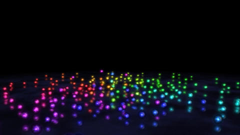 Colorful Rainbow Rolling Marbles Animation