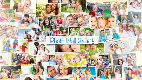 Photo Wall Gallery - After Effects Template After Effectsテンプレート