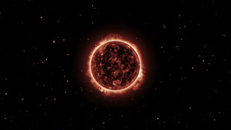 Surface Of The Sun. Space Fly Around stock footage