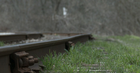 Railway tracks beside Transcanada trail Footage
